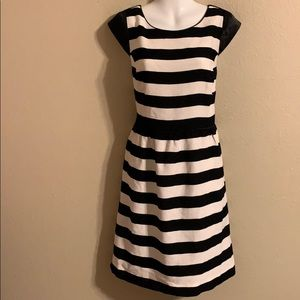Antonio Melani black and white striped dress 14